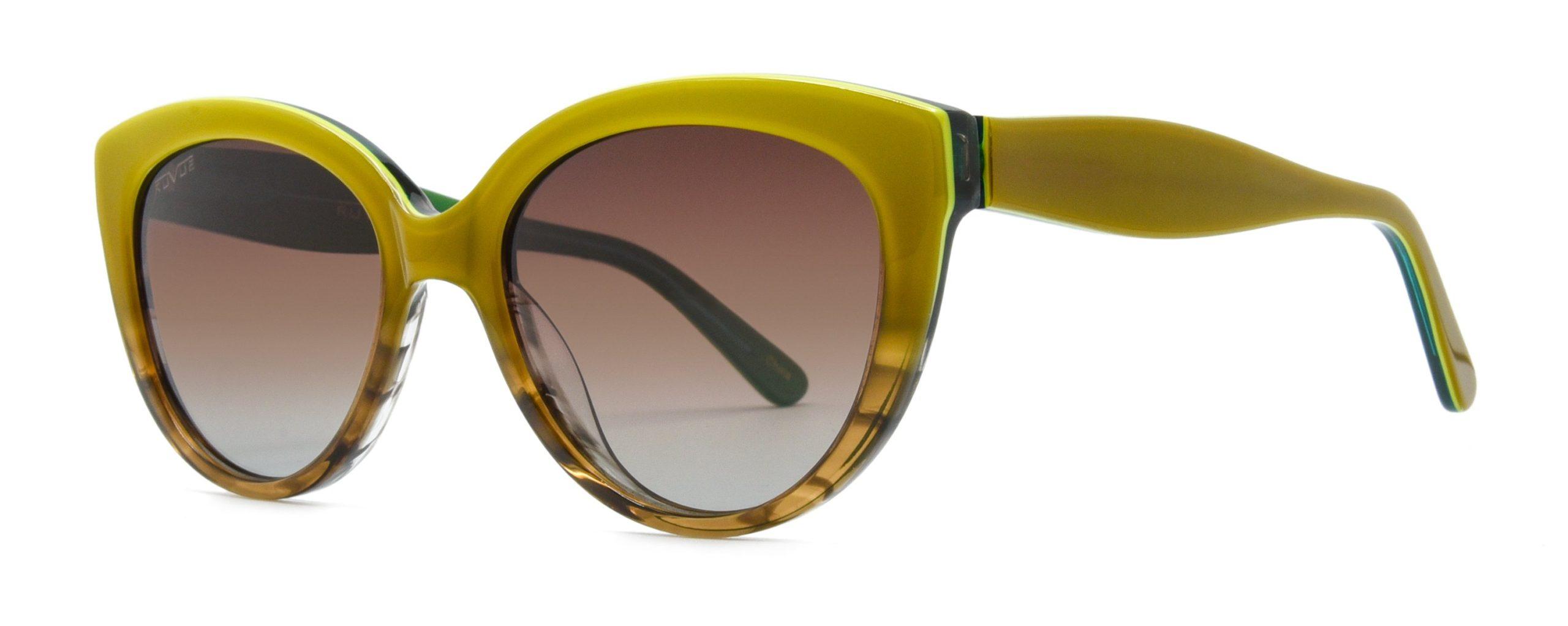 Magdalene - Honey Caramel Green Brown Polarized Lenses - Angle