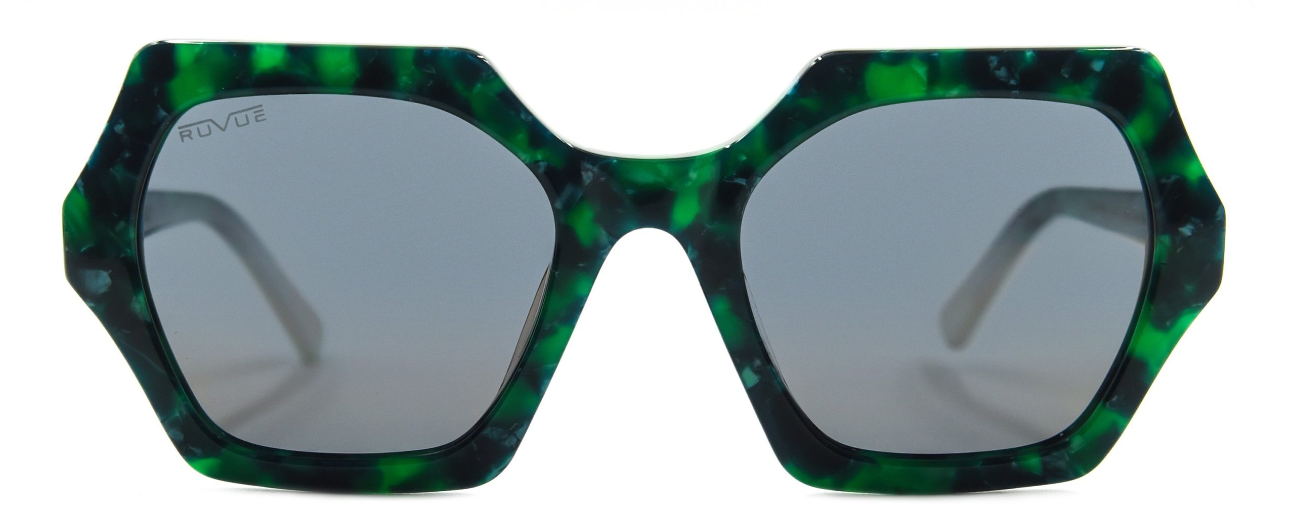 Sheerah - Jade Green - Polarized Brown Gold Mirror Lenses - Front