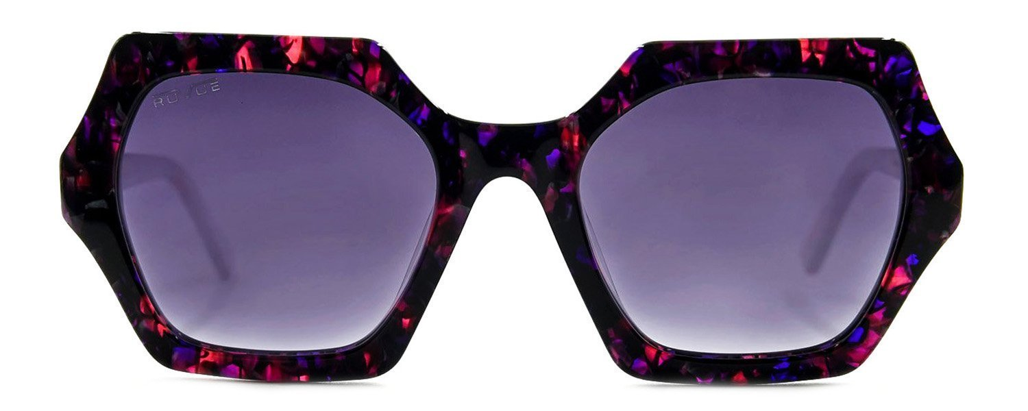 Sheerah - Purple Rain - Polarized Grey Gold Mirror Lenses - Front