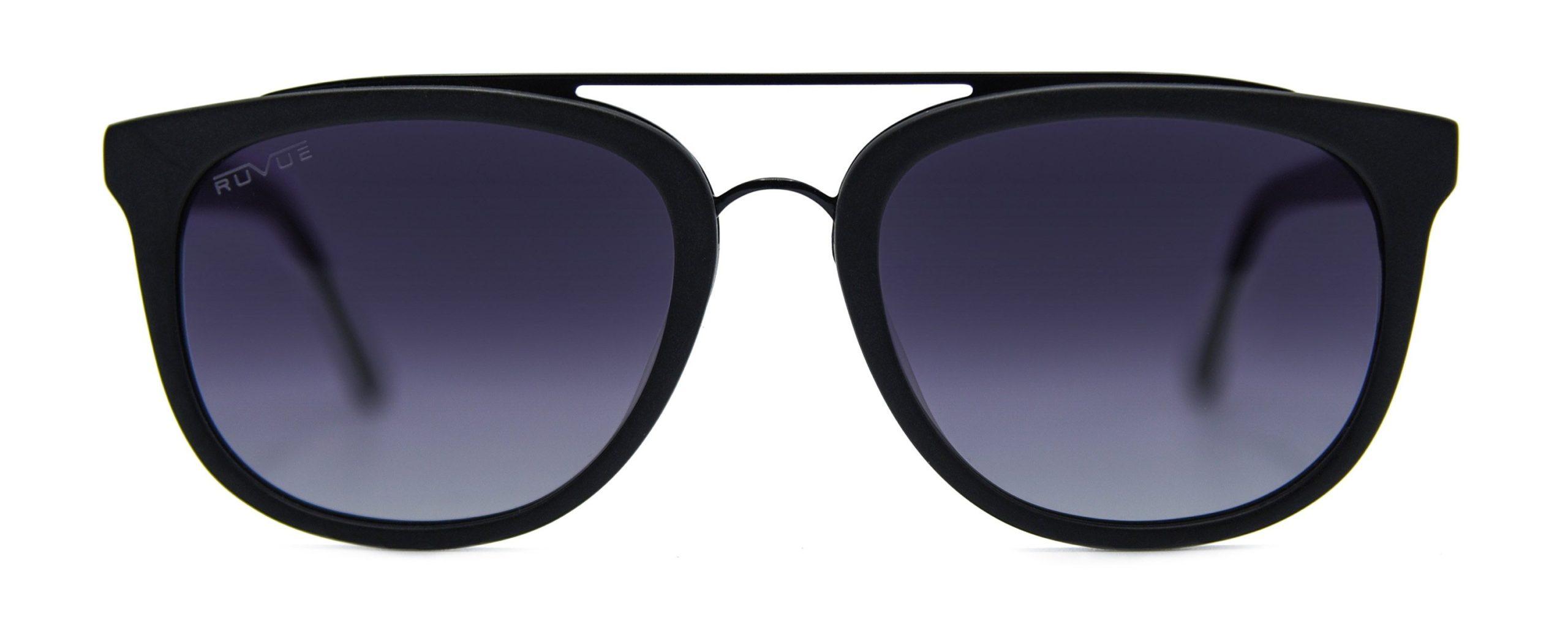 Zena - Matte Black - Black Gradient Polarized Grey Lenses - Front