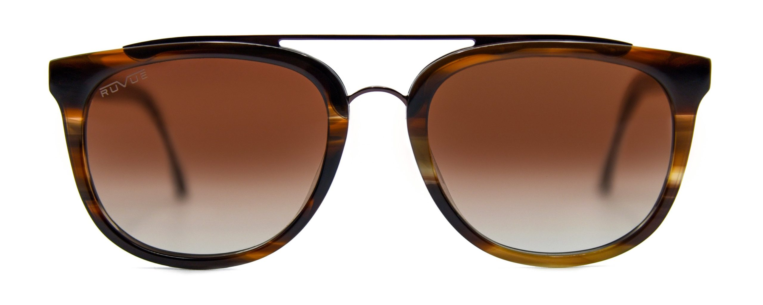 Zena - Chestnut Tortoise - Brown Gradient Polarized Lenses - Front